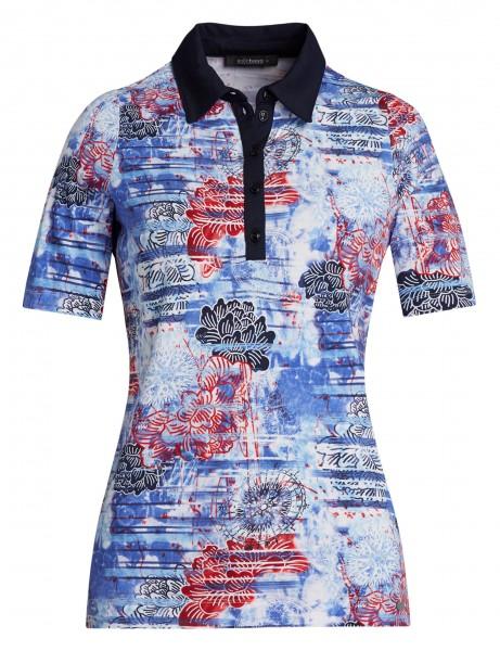 Damen-Poloshirt von golléhaug mit Halbarm und Alloverdruck