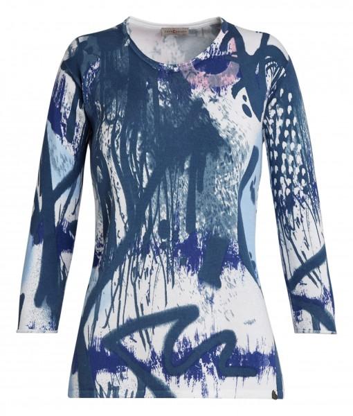 Weicher Damen-Pullover von yourConcept mit 3/4 Arm, bedruckt