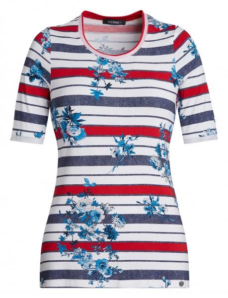 Damen-Shirt mit Mustermix von golléhaug mit Halbarm und Rundhals