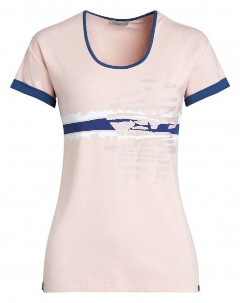 Modisches Damen-Shirt mit überschnittener Schulter und Rundhals