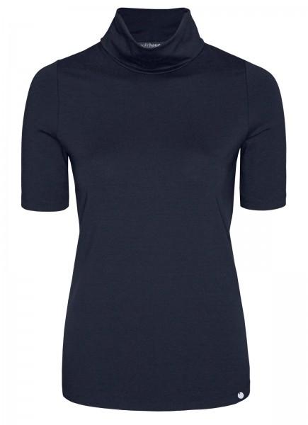 T-Shirt, Rollkragen, Kurzarm