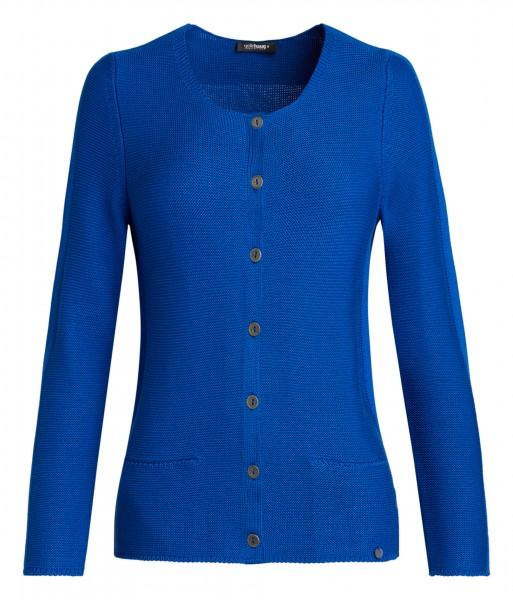 blaue Damen-Strickjacke von golléhaug mit Carrée ...