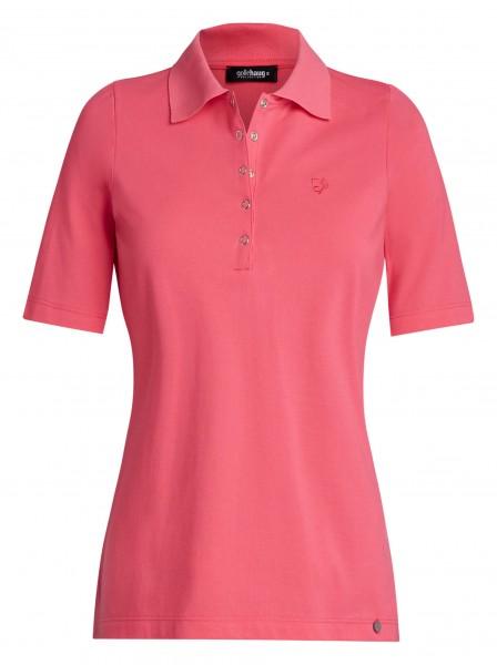 Damen-Polo-Shirt von golléhaug aus Baummwolle mit Halbarm