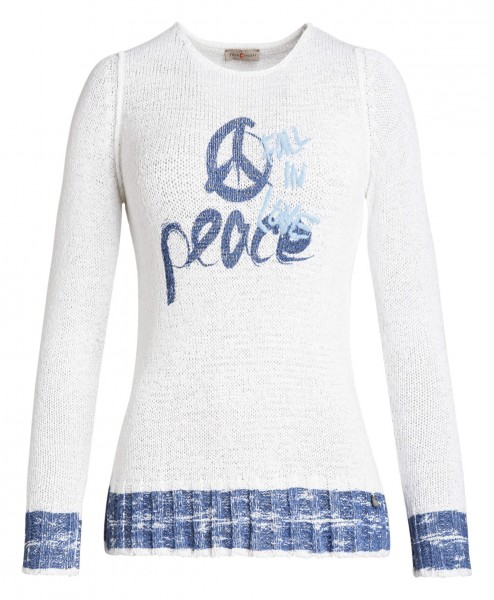 Flotter Damen-Pullover von yourConcept mit Langarm und Motivdruck