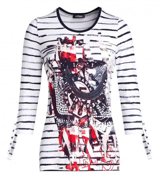 Maritimes Damen-Shirt von golléhaug mit 3/4 Arm und Rundhals