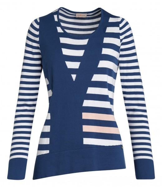 Moderner Damen-Pullover von yourConcept mit Langarm und Rundhals