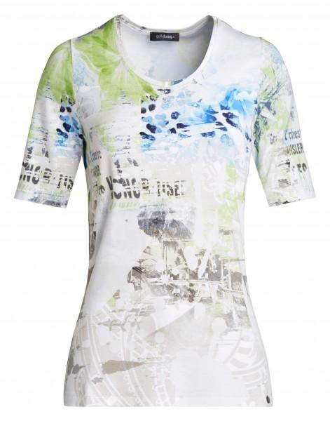 Modernes bedrucktes Damen-Shirt von golléhaug mit Halbarm und Rundhals
