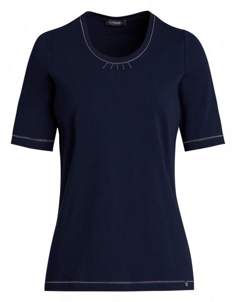 Basic-Shirt für Damen von golléhaug aus Baumwolle/Elasthan
