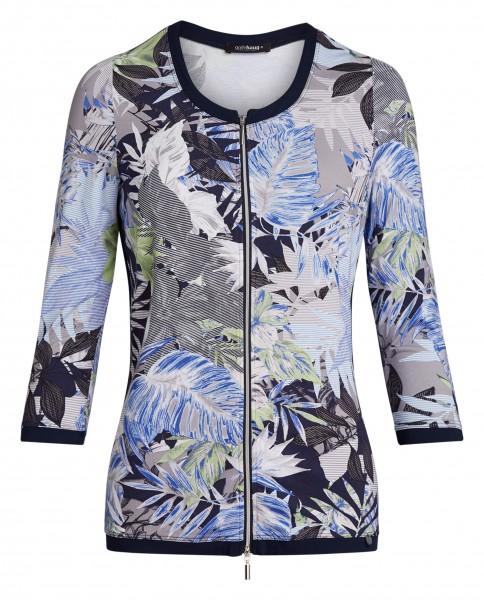 Bedruckte Damen Jersey-Jacke von golléhaug mit 3/4 Arm und Rundhals