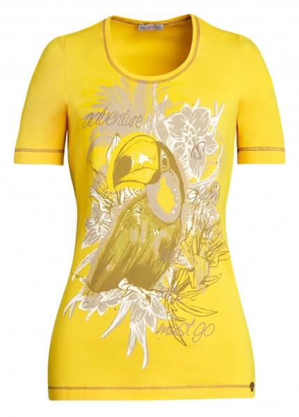 Farbenfrohes Damen-Shirt von yourConcept mit Halbarm und Rundhals