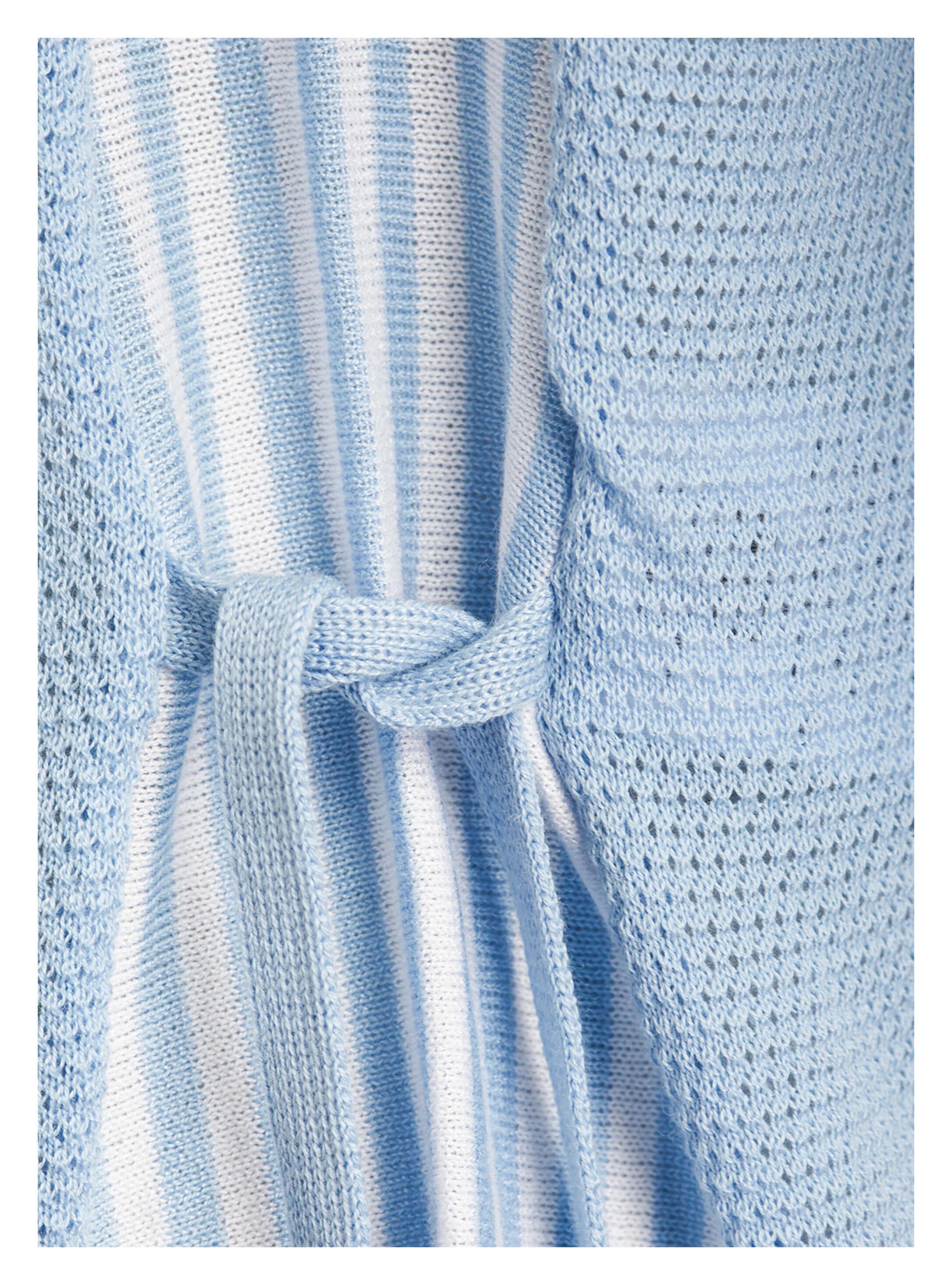 b3ee1c66ed82bb ... Vorschau: hellblauer Damen-Pullover von yourConcept mit Langarm und V- Ausschnitt