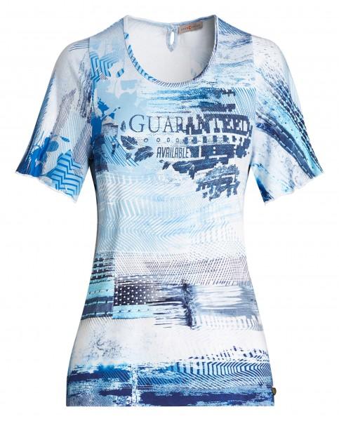 Buntes Damen-Shirt von yourConcept mit Halbarm und Rundhals