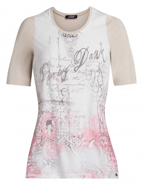 Romantisches Damen-Shirt von golléhaug mit Halbarm und Rundhals