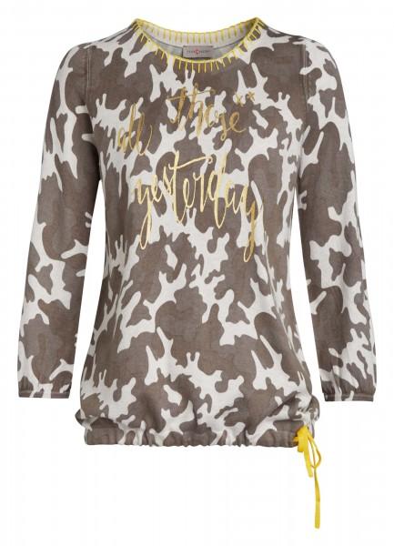 Geschmackvoller Damen-Pullover von yourConcept mit 3/4 Arm und Rundhals