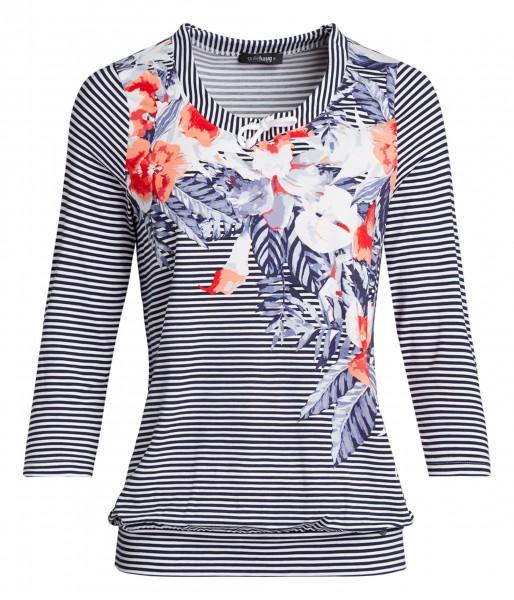 Damen-Shirt von golléhaug mit Frontprint und 3/4 Arm