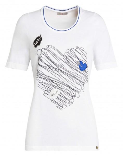 Trendy Damen-Shirt von yourConcept mit Halbarm und Rundhals