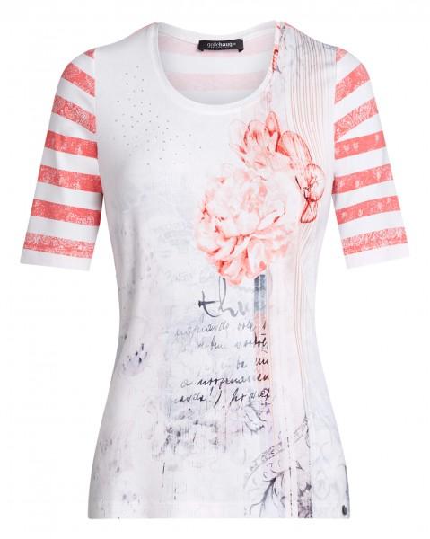 bedrucktes Damen-Shirt von golléhaug mit Halbarm und Rundhals