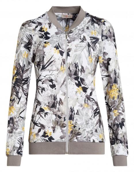 Sportliche Damen Jersey-Jacke von yourConcept mit Langarm und Stehkragen