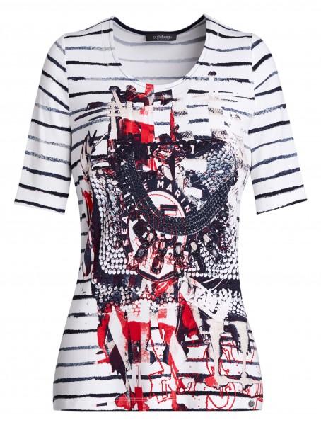 Damen-Shirt von golléhaug in Mustermix mit Halbarm und Rundhals