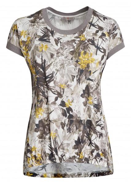 Bedrucktes Damen-Shirt von yourConcept mit überschnittener Schulter