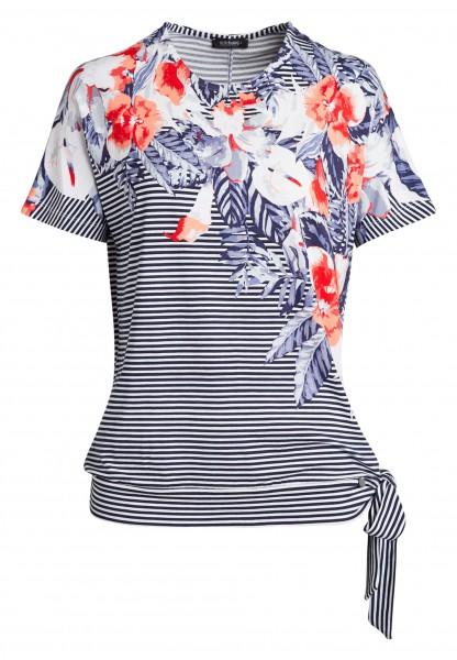 Verspieltes Damen-Shirt von golléhaug mit überschn. Arm und Rundhals