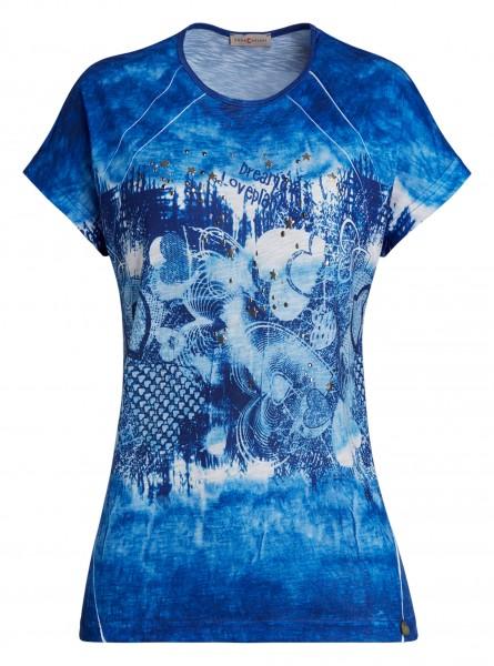 farbenfrohes Damen-Shirt von yourConcept mit überschnittener Schulter