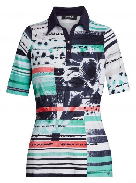 bedrucktes Damen-Poloshirt von golléhaug mit Halbarm